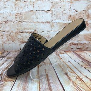 Franco Sarto GIVER Leather Slides Sandals Flats